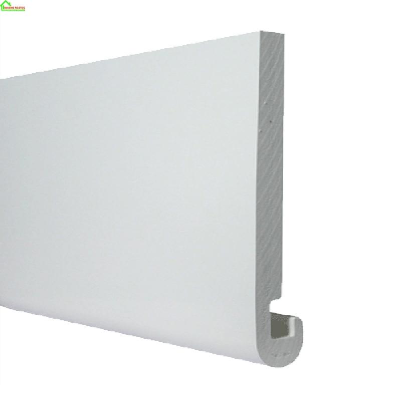 Bull Nosed Fascia Board 355mm X 5m Length In White